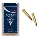 CCI 17 HMR Ammunition 20 Grain Full Metal Jacket 50 Rounds